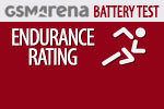 GSMArena Battery Test Endurance rating