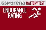 GSMArena Battery Test Endurance rating