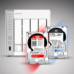 Жесткие диски рекомендуемые для установки в NAS