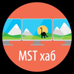 Монитор со встроенным MST хабом