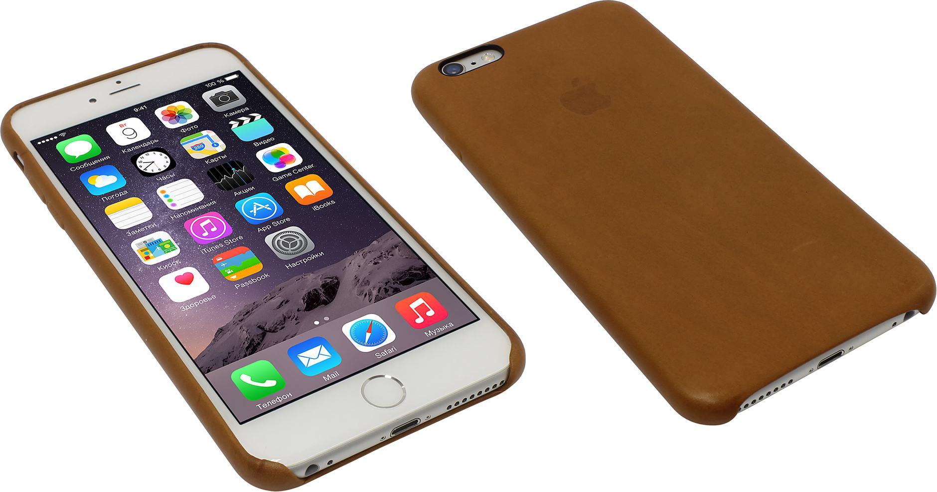 Оригинальный кожаный чехол Apple iPhone 6s Plus Leather Case Saddle Brown —  купить 666ba2475c66b