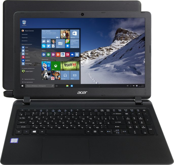 Acer Extensa EX 2540-3075, вид раскрытого ноутбука