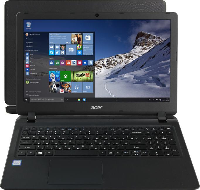 Acer Extensa EX 2540-51C1, вид раскрытого ноутбука