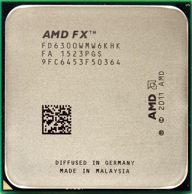 AMD FX 6300, вид сверху