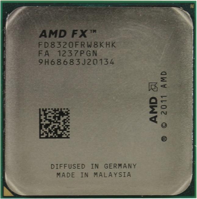 AMD FX 8320, вид сверху