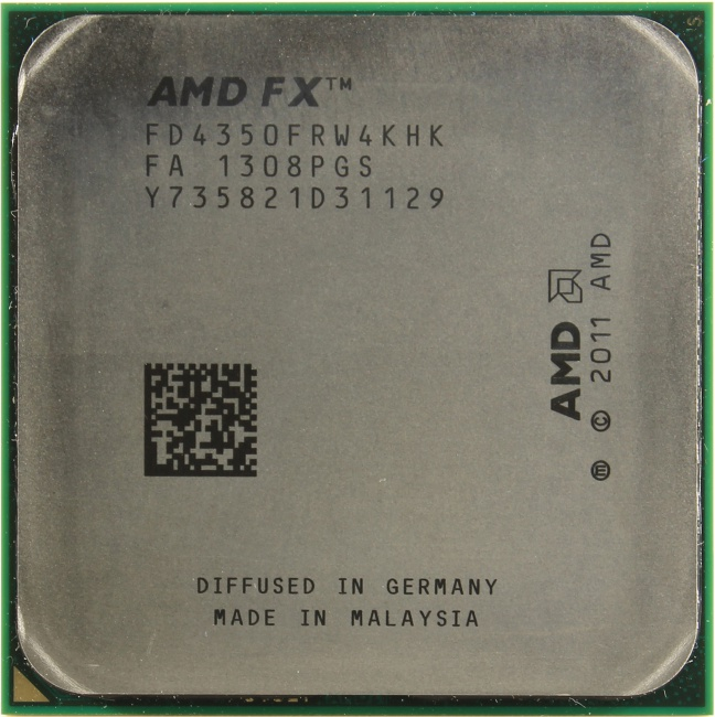 AMD FX 4350, вид сверху