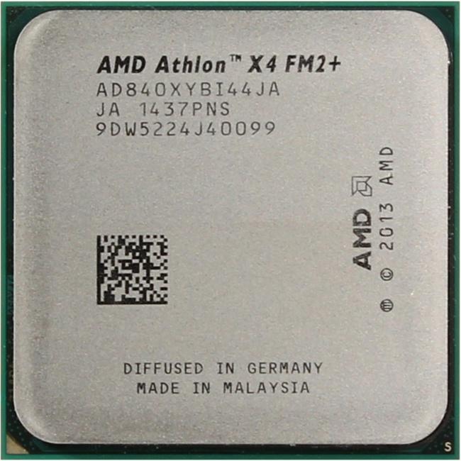 AMD Athlon X4 840, вид сверху