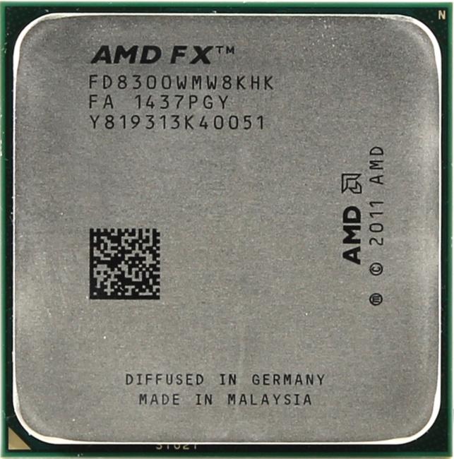 AMD FX 8300, вид сверху