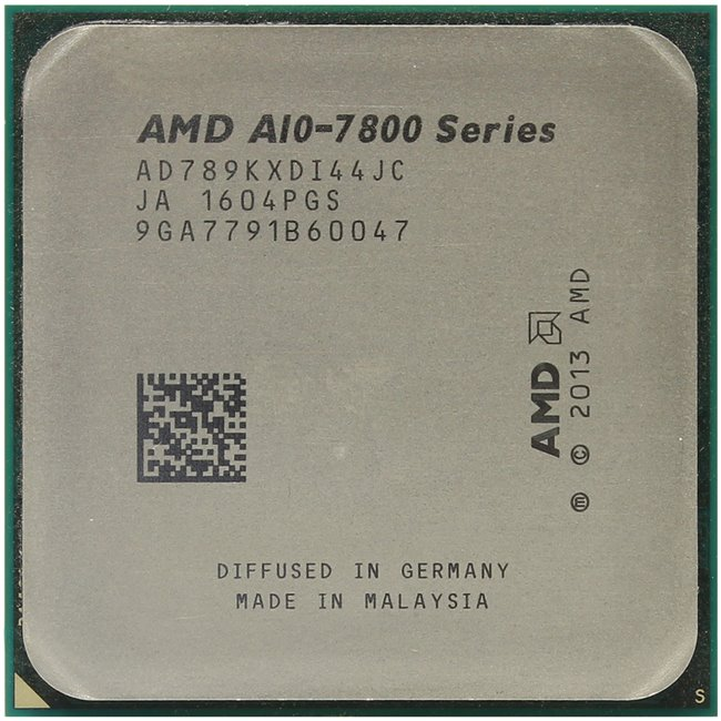 AMD A10-7890K APU with Radeon R7 Series, вид сверху