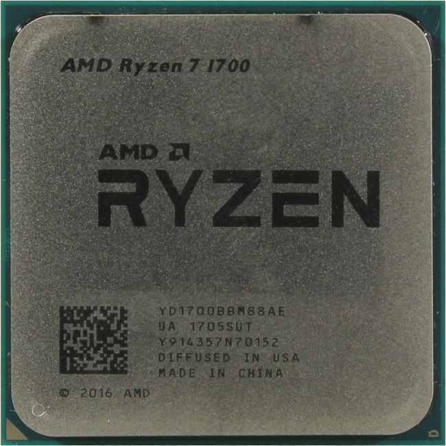 AMD Ryzen 7 1700, вид сверху