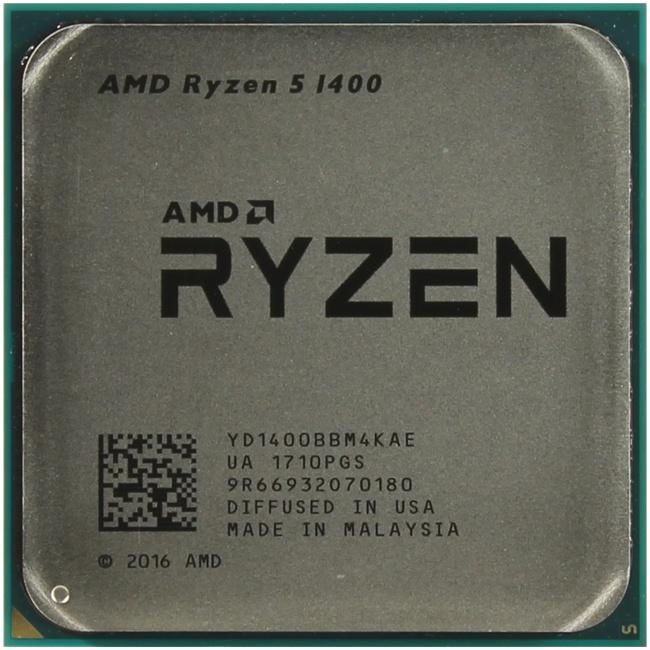 AMD Ryzen 5 1400, вид сверху