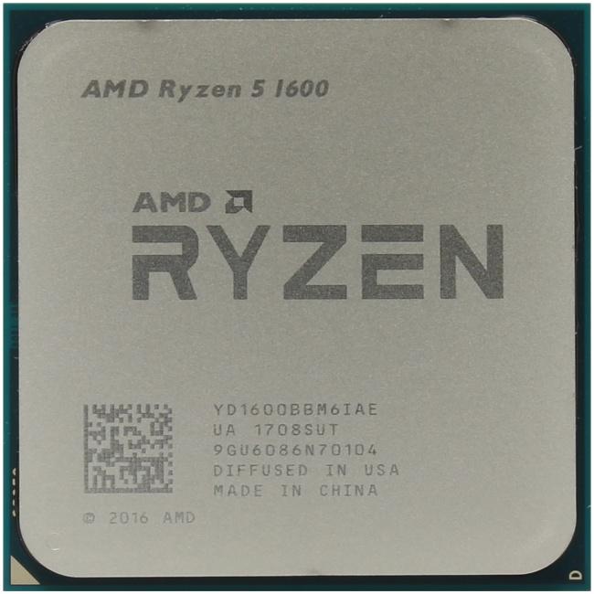 AMD Ryzen 5 1600, вид сверху