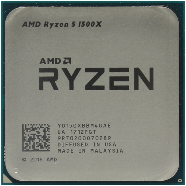AMD Ryzen 5 1500X, вид сверху