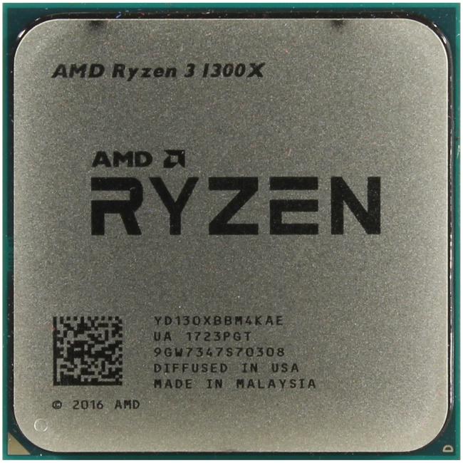AMD Ryzen 3 1300X, вид сверху