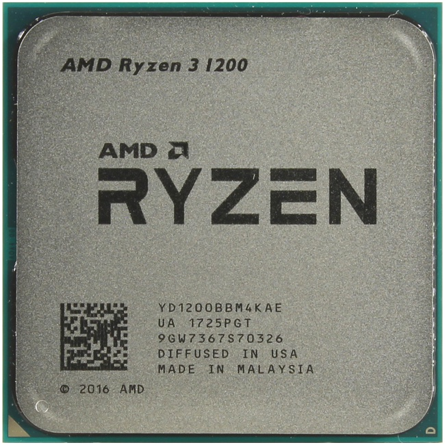 AMD Ryzen 3 1200, вид сверху