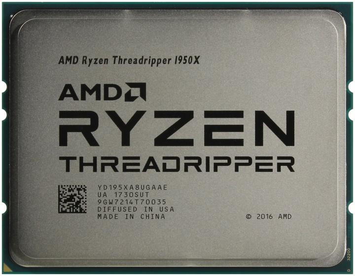 AMD Threadripper 1950X, вид сверху