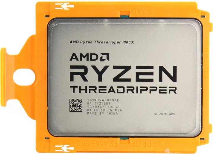 AMD Threadripper 1900X, вид сверху