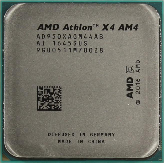 AMD Athlon X4 950, вид сверху