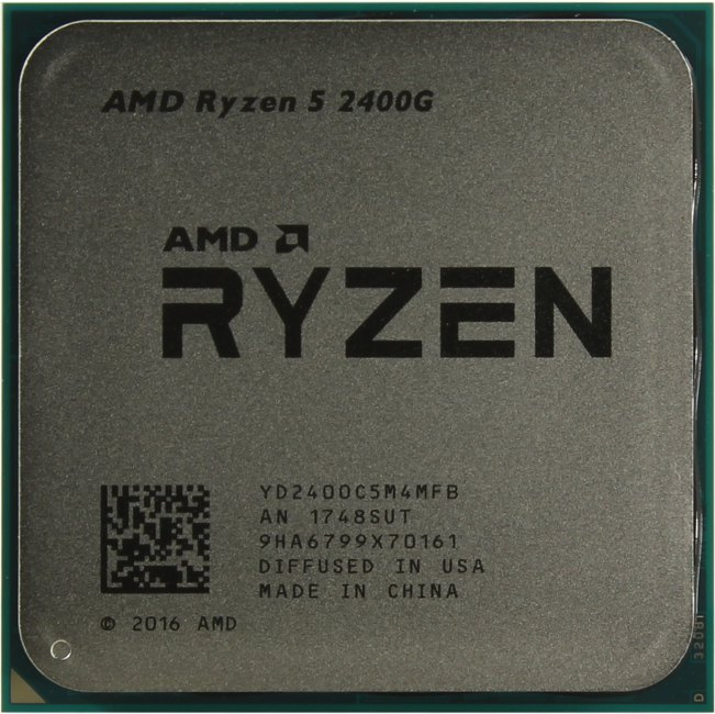 AMD Ryzen 5 2400G, вид сверху