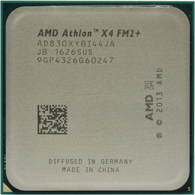 AMD Athlon X4 830, вид сверху