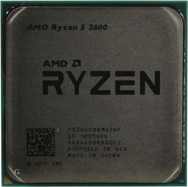 AMD Ryzen 5 2600, вид сверху