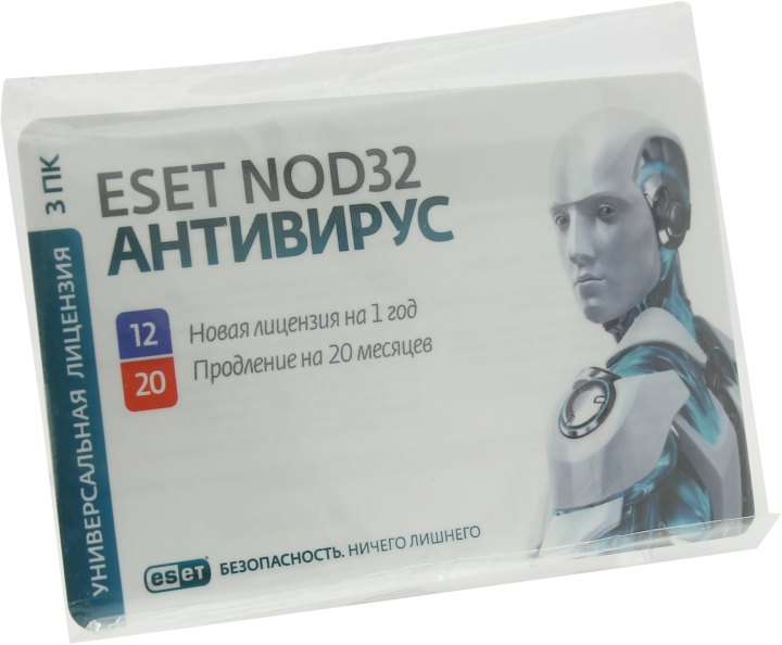ESET NOD32 карта продления лицензии, вид основной