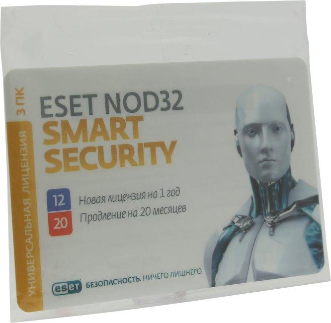 ESET NOD32 Smart Security карта продления лицензии, вид основной