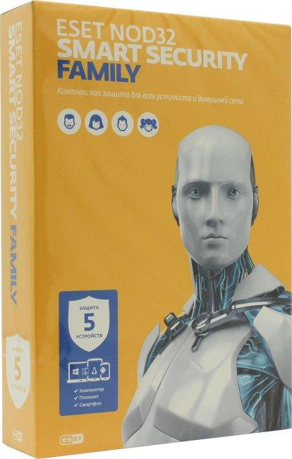 ESET NOD32 Smart Security Family, вид основной