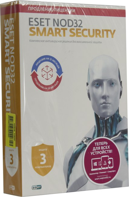 ESET NOD32 Smart Security, вид основной