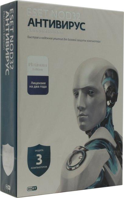 ESET NOD32 Platinum Edition Рус. Лицензия, вид основной