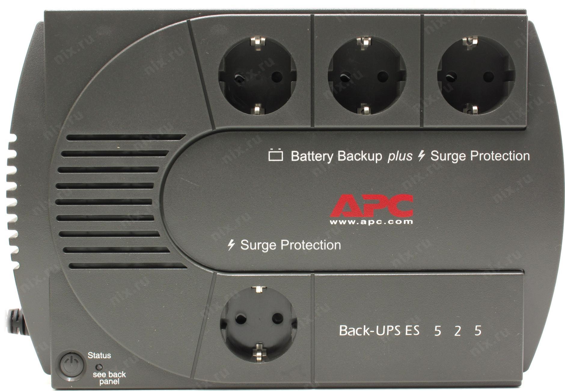 Apc инструкция back ups es 525