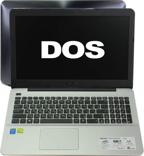 ASUS X 555LN, вид раскрытого ноутбука
