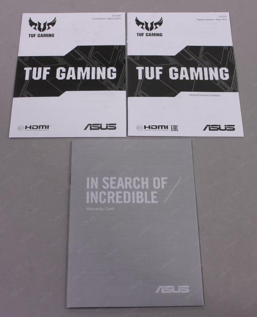 "Ноутбук ASUS TUF Gaming FX505DD <90NR02C1-M08750> Ryzen 5 3550H/8/256SSD/GTX1050/WiFi/BT/Win10/15.6""/2.07 кг"