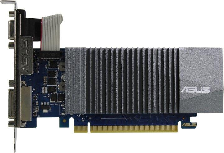 ASUS GT710-SL-1GD5, вид сверху
