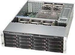 Корпус Server Case SuperMicro <CSE-836BE1C-R1K23B>Black 16xHotSwap SAS/SATA, WIO 1200W HS 3U RM