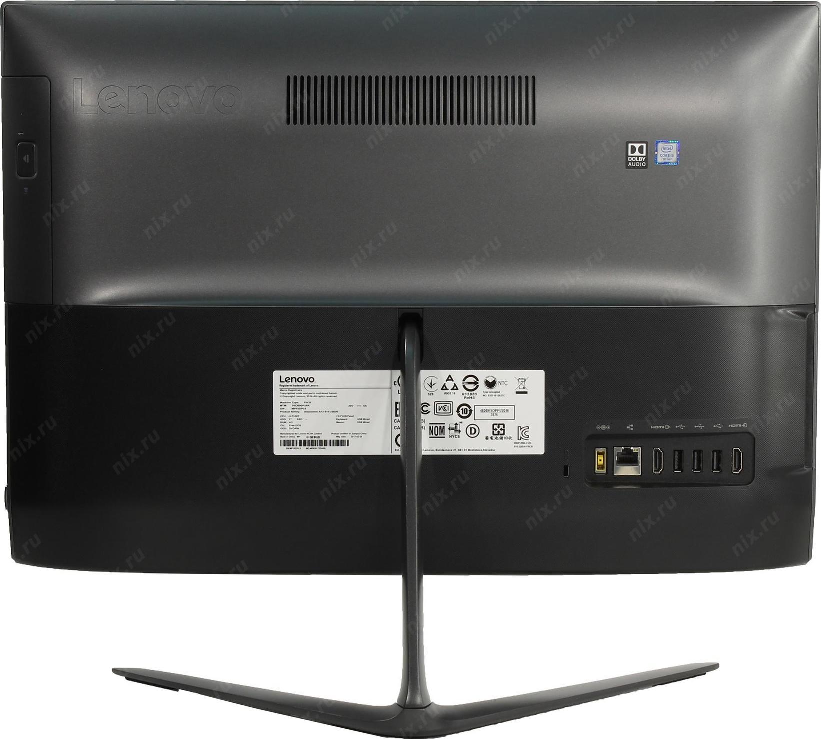 Lenovo Ideacentre Aio 510 22ish F0cb00p3rk Aio510 Core I3 7100t 4gb Ddr4 1tb Hd Black