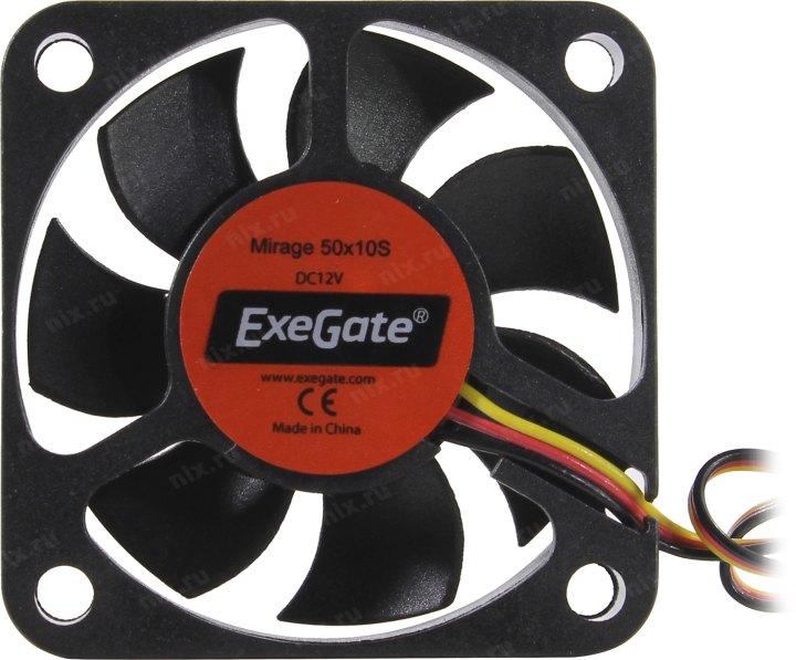 Вентилятор ExeGate <EX180972RUS> Mirage 50x10S (3пин, 50x50x10мм, 4500об/мин)