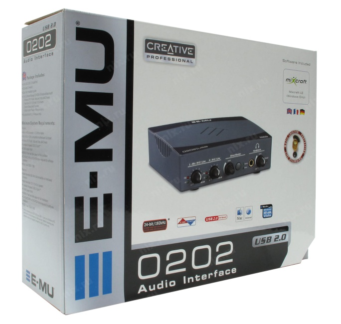 звуковая карта e-mu 0202 usb цена