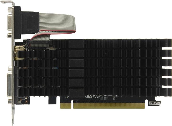 GIGABYTE GV-N710SL-1GL, вид сверху