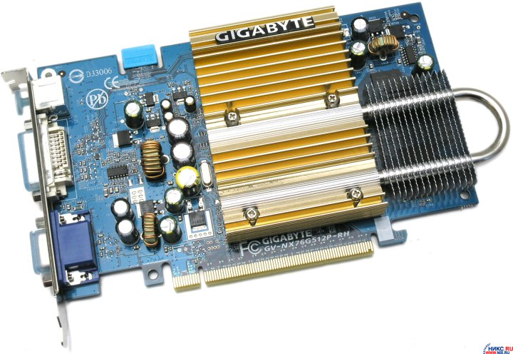 GIGABYTE GV-NX76G512P-RH, вид основной