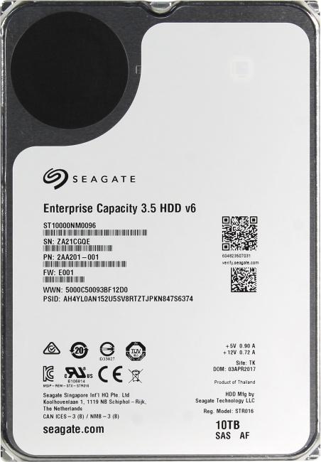 Seagate Enterprise Capacity 3.5 ST10000NM0096, вид сверху