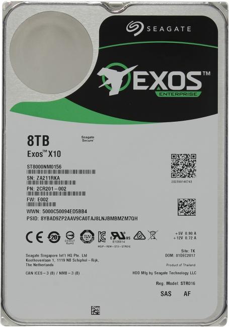 Seagate Exos X10 ST8000NM0156, вид сверху