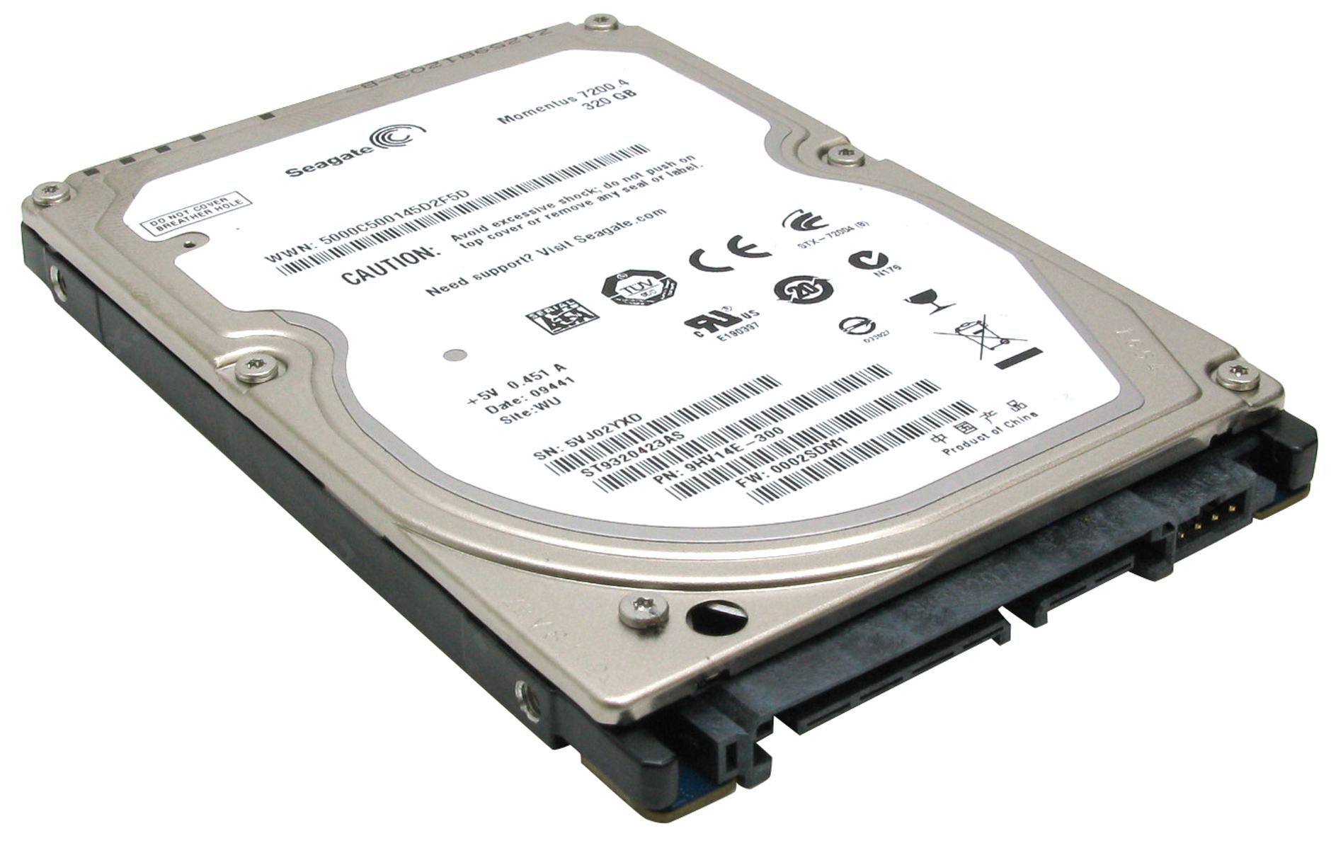 HDD 320 Gb SATA-II 300 Seagate Momentus 7200.4 ST9320423AS 2.5 7200 rpm 16Mb