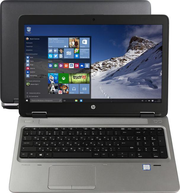 HP ProBook 650 G3, вид раскрытого ноутбука