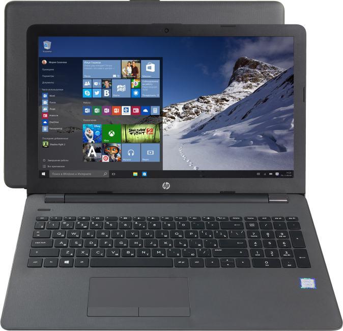 HP 250 G6, вид раскрытого ноутбука
