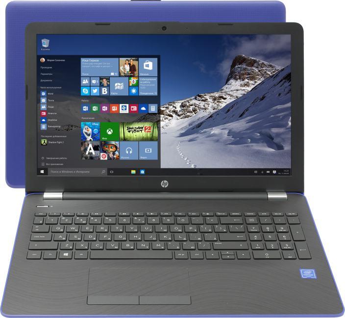 HP 15-bs042ur, вид раскрытого ноутбука