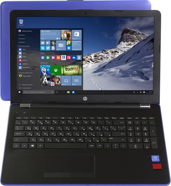 HP 15-bs050ur, вид раскрытого ноутбука