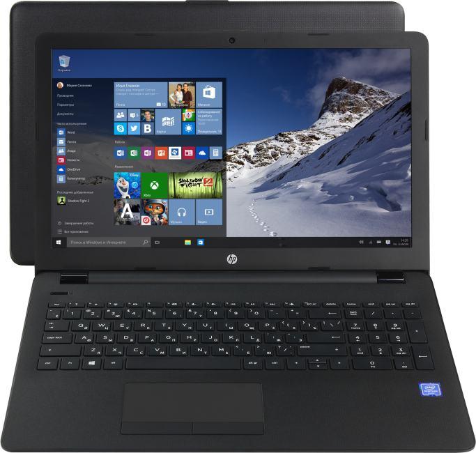 HP 15-bs009ur, вид раскрытого ноутбука