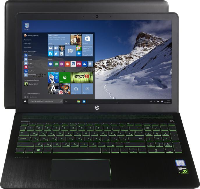 HP Pavilion Power 15-cb012ur, вид раскрытого ноутбука
