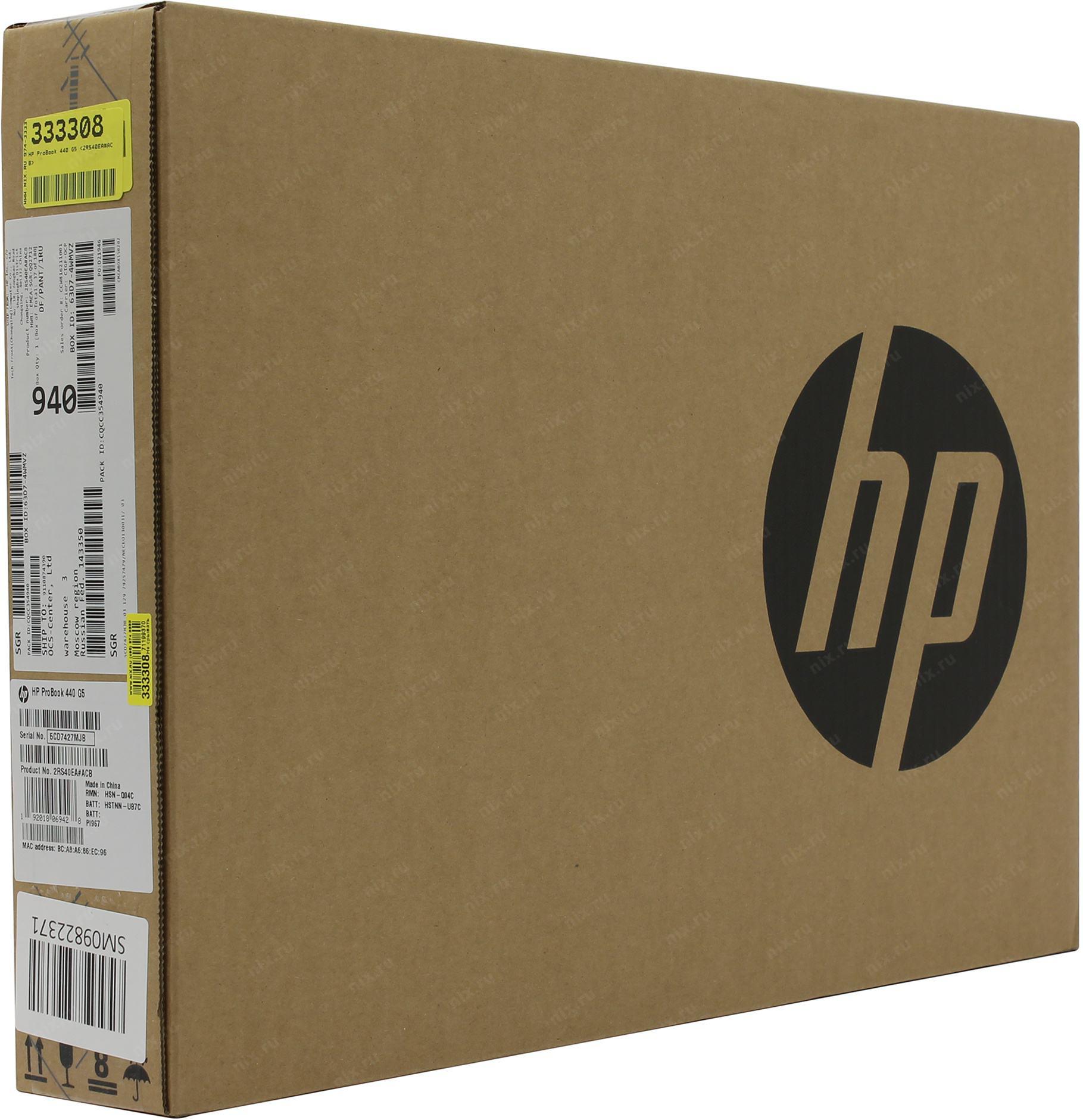 Ноутбук HP ProBook 440 G5 2RS40EA — купить цена и характеристики отзывы